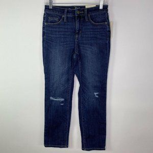 Universal Thread Womens Distressed Jeans Size 2 Straight High Rise NWT